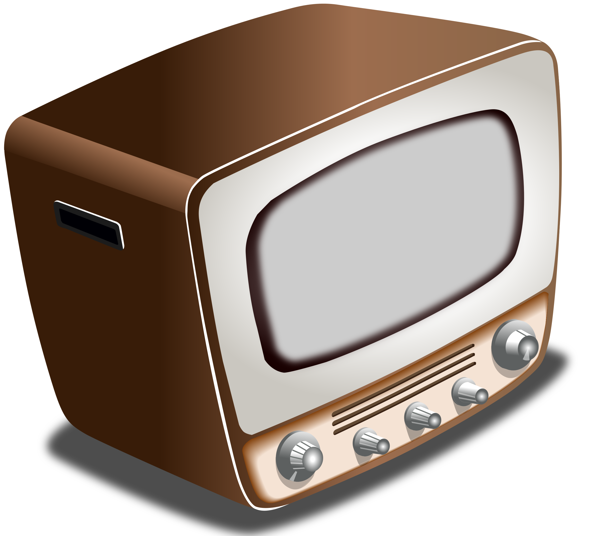 Clipart tv tv radio. Vintage crt television big