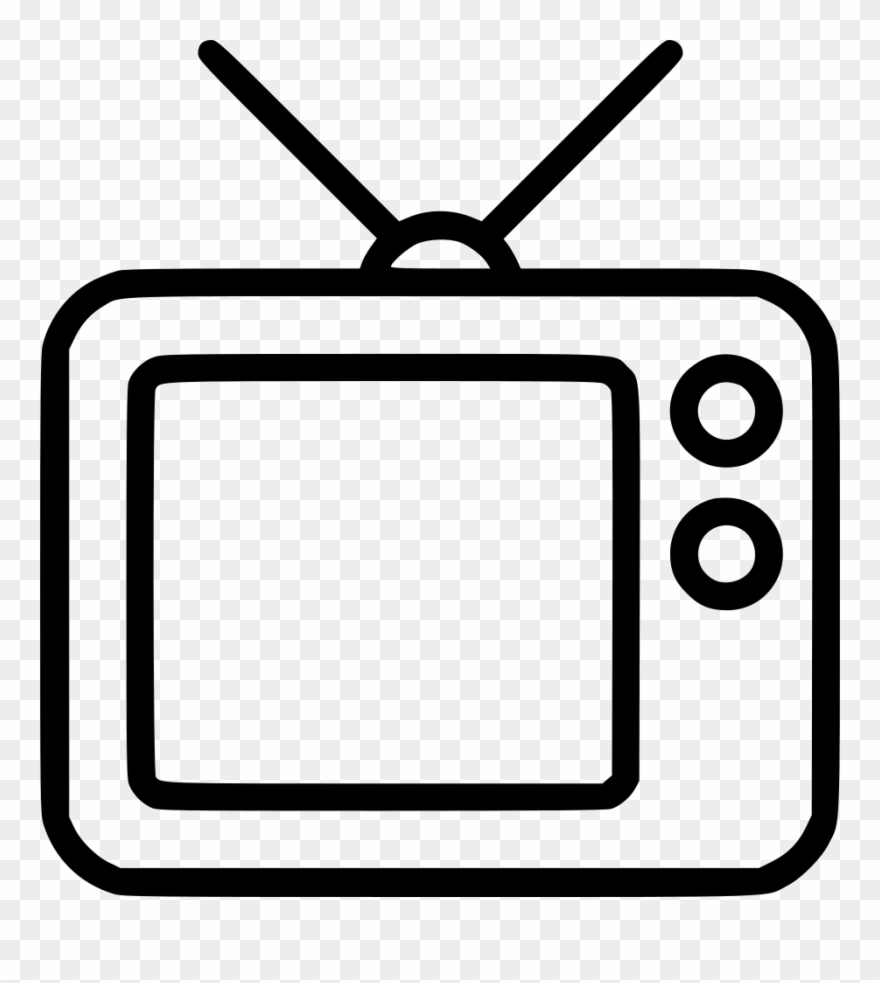 Svg black and white. Clipart tv tv radio