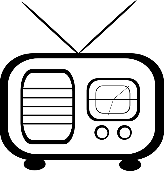 Clipart tv tv radio. Clip art at clker
