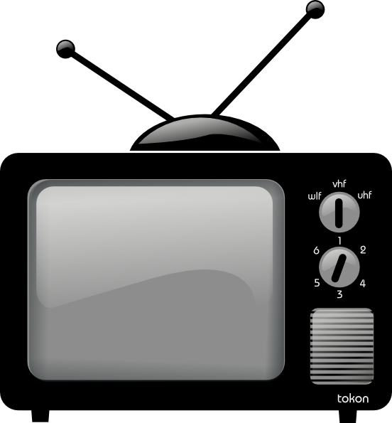 Clipart tv tv set. Old television clip art