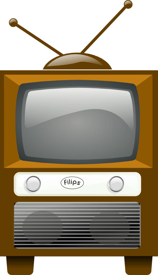 Vintage television . Clipart tv tv set