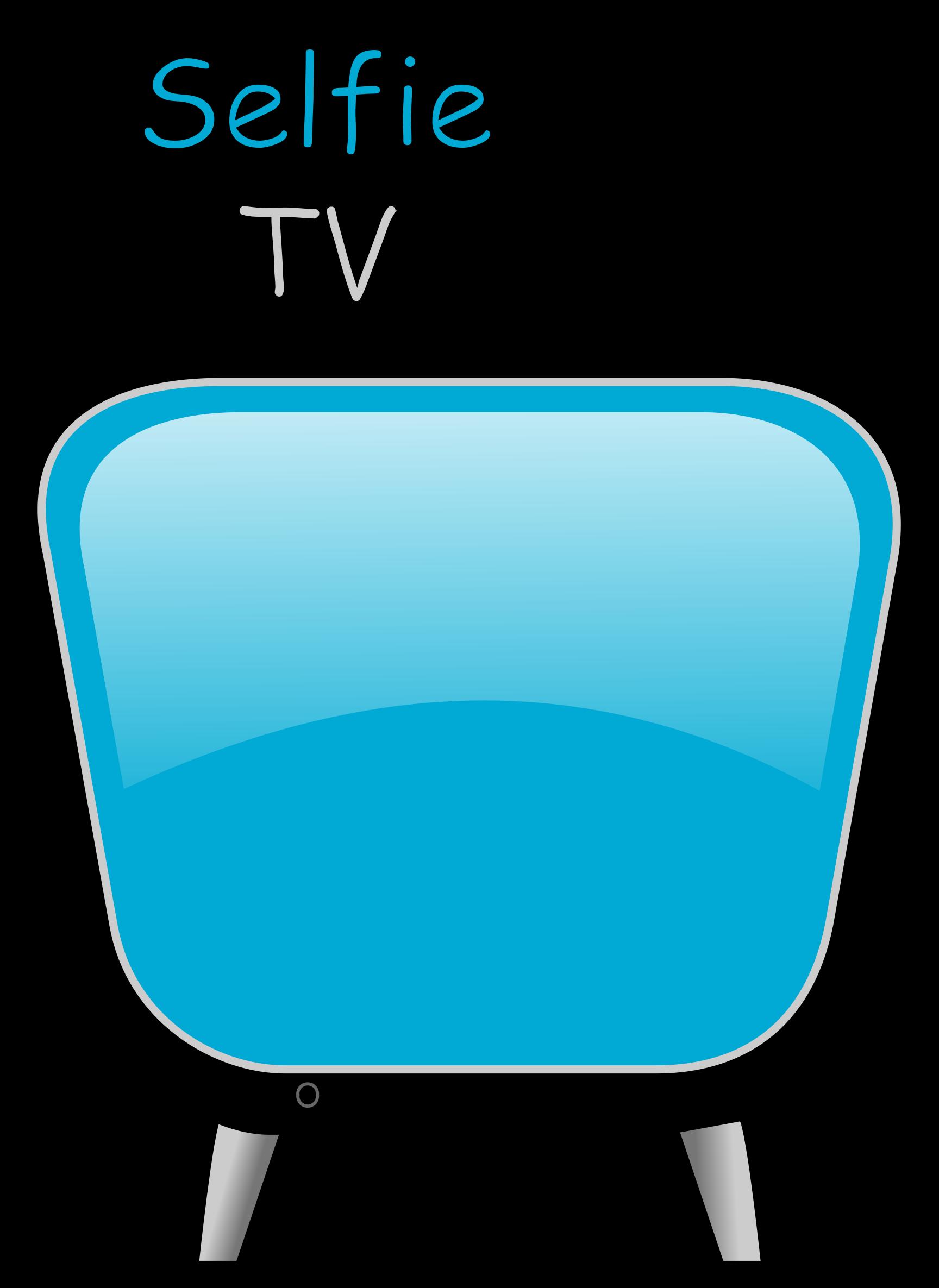 Television clipart television camera. Selfie tv big image