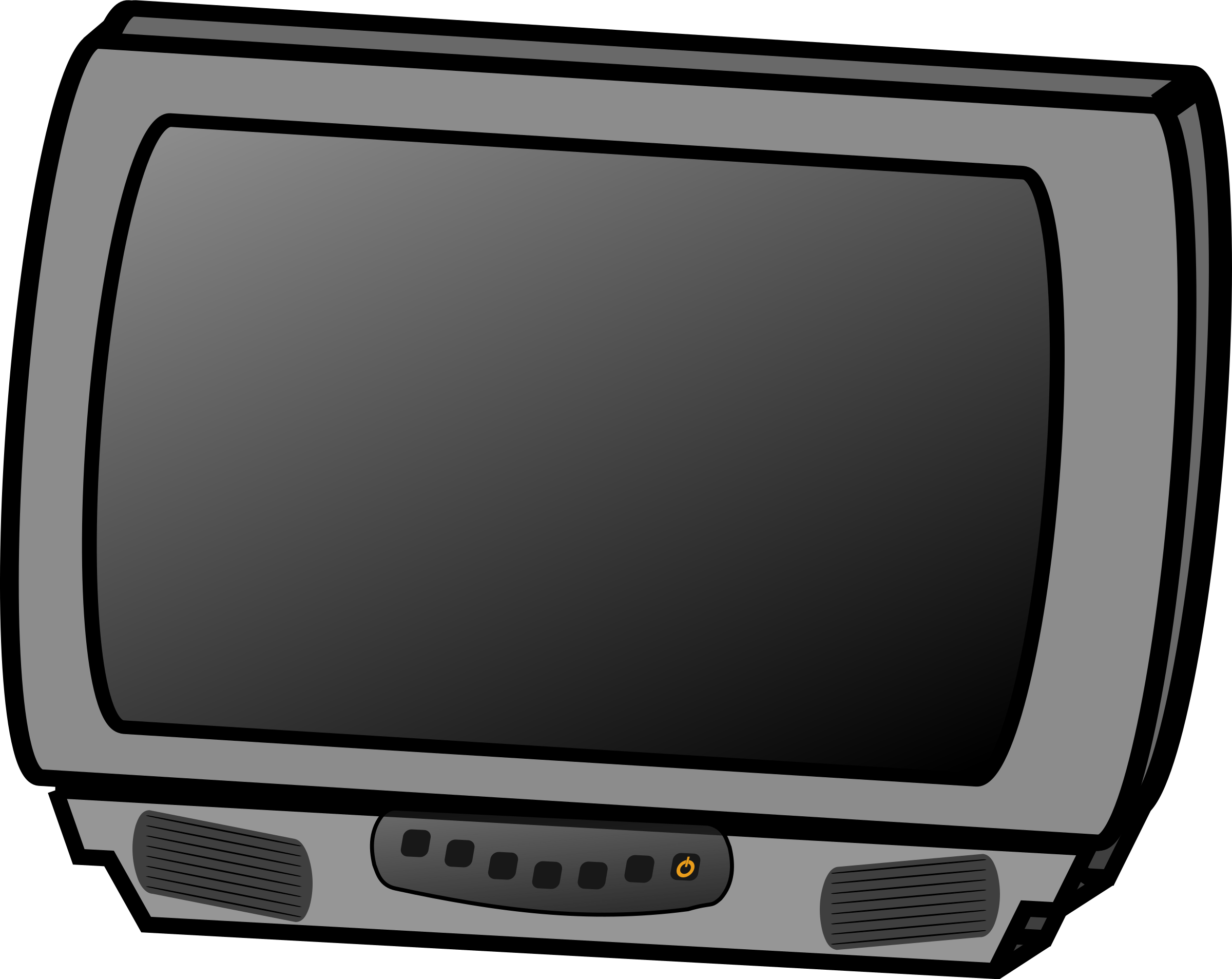 Television clipart crt tv.