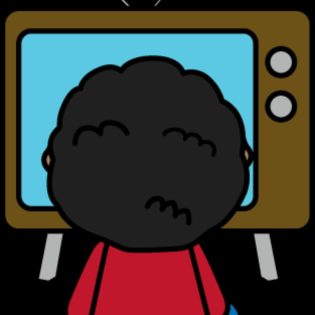 Tv ice cream hatenylo. Television clipart kid
