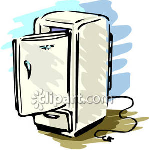 Clipart tv unplugged. Refrigerator royalty free picture