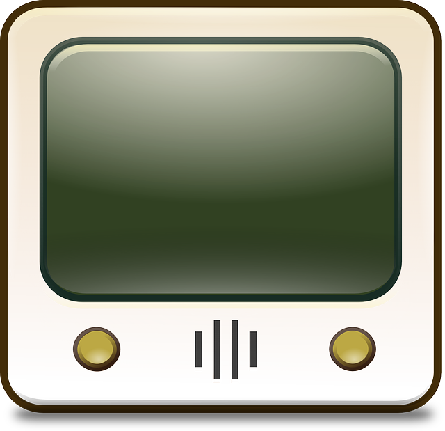 Clipart tv vector. Tube clipground free graphic