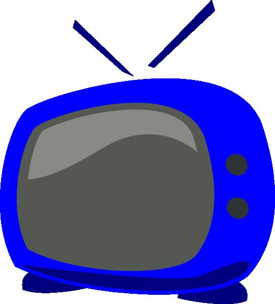 Clipart tv vector. Blue clip art at