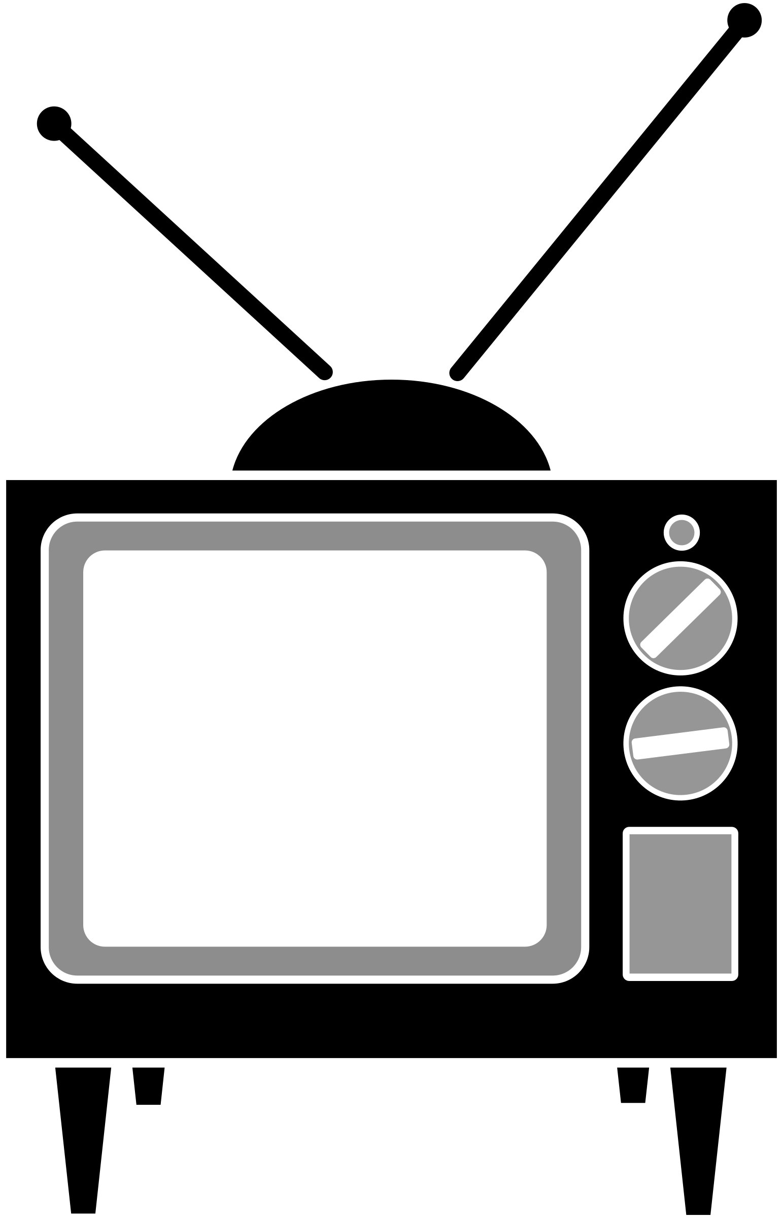 Television clipart crt tv. Simple big image png