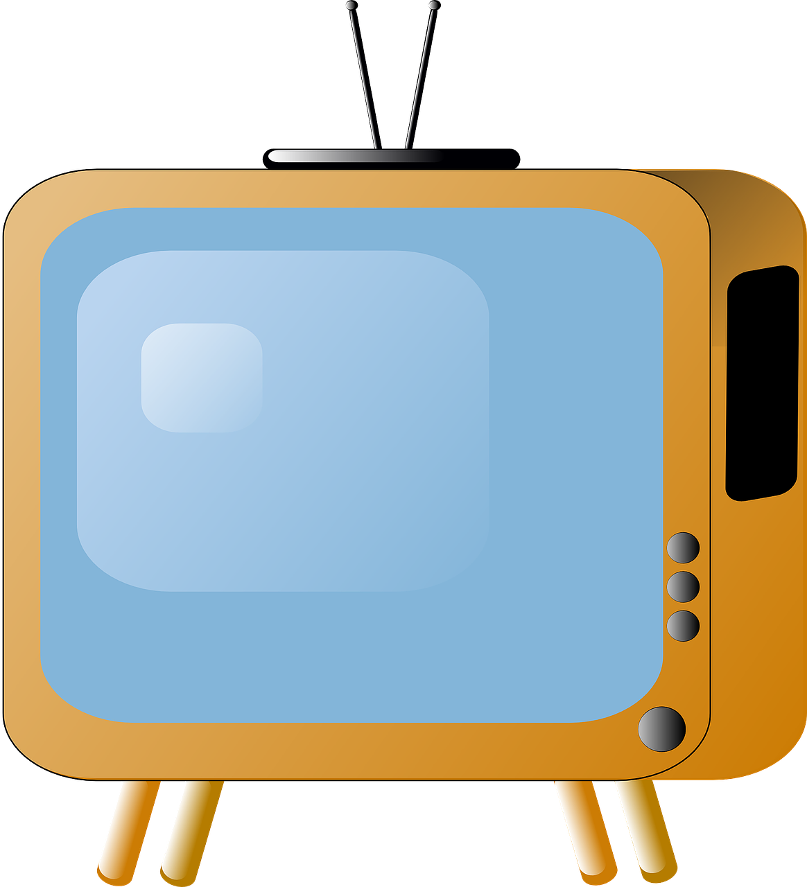 television clipart back tv