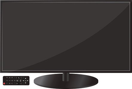 Flat wide tv and. Television clipart modern