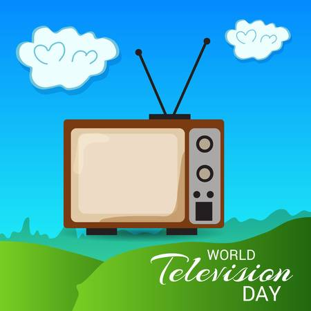 Clipart tv world television day.  greeting picture ideas