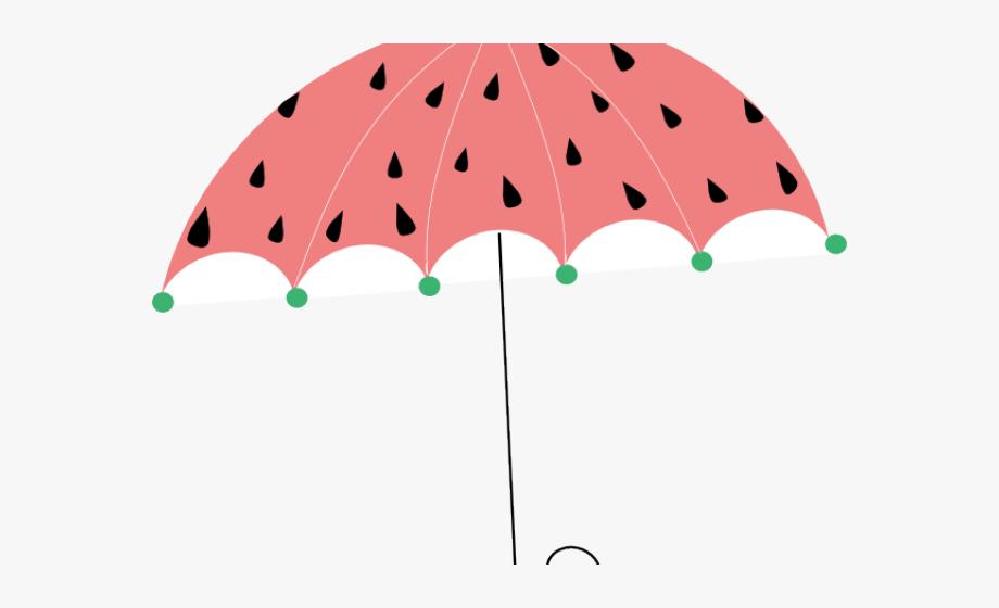 April showers . Watermelon clipart umbrella