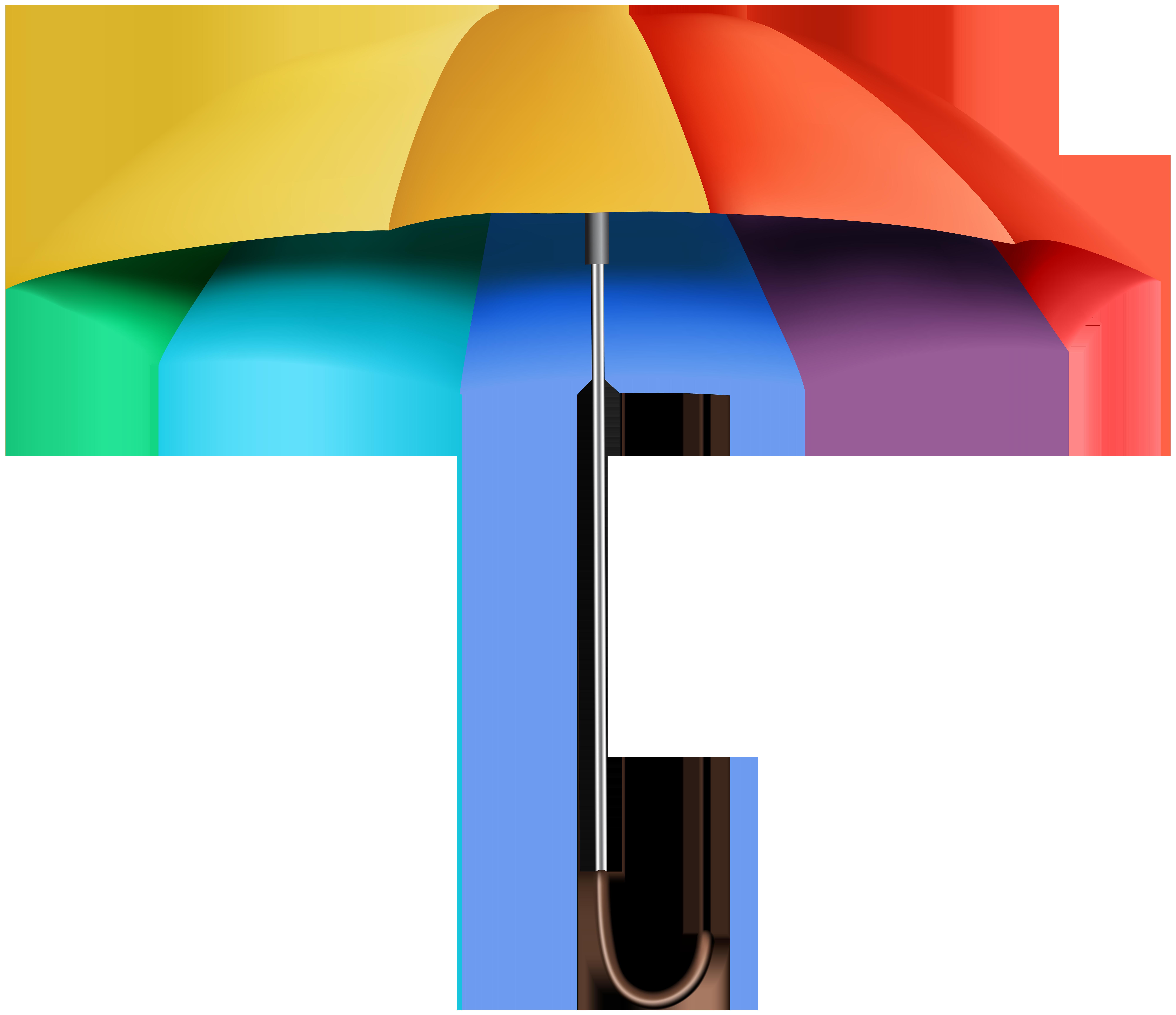 Rainbow transparent clip art. Watermelon clipart umbrella