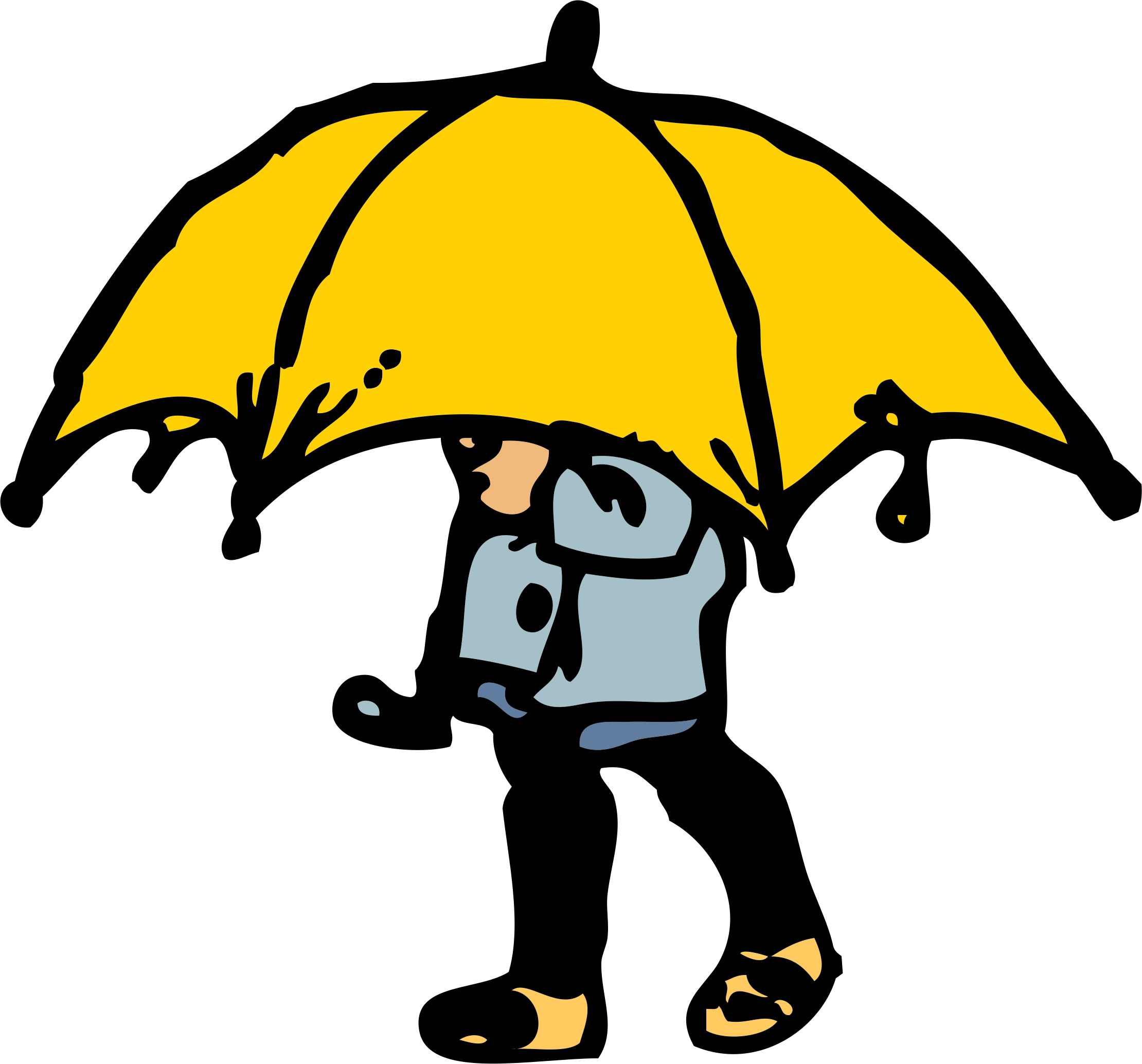 Tall clipart tall boy. With umbrella silhouette at