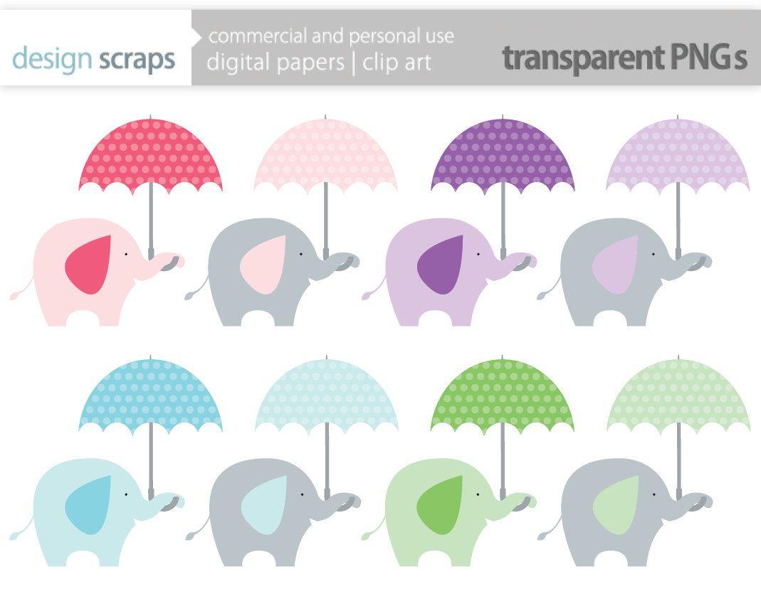 Blue . Clipart umbrella baby shower