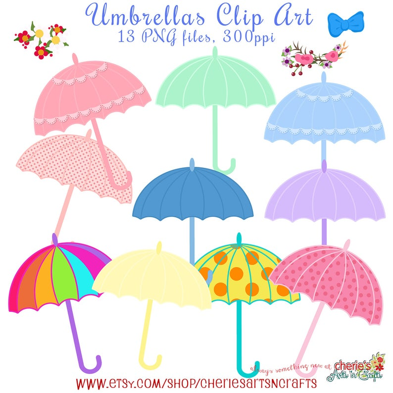 Clipart umbrella baby shower. Umbrellas clip art digital