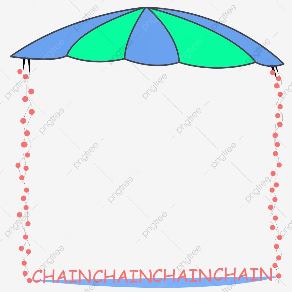 Clipart umbrella border. Creative illustration blue