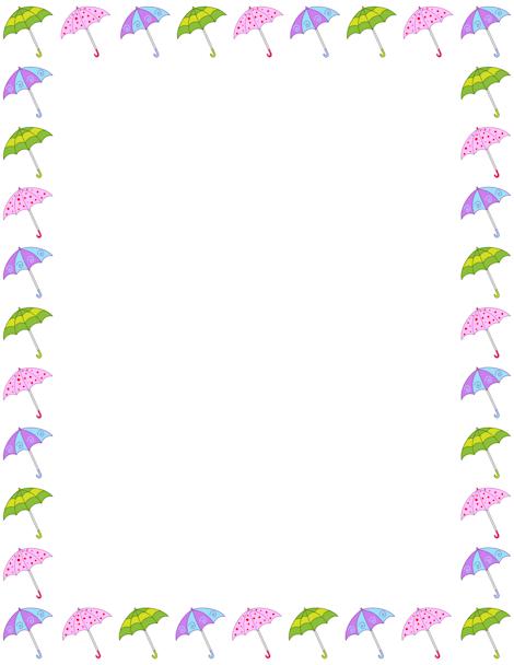 Clipart umbrella border. Pin by muse printables