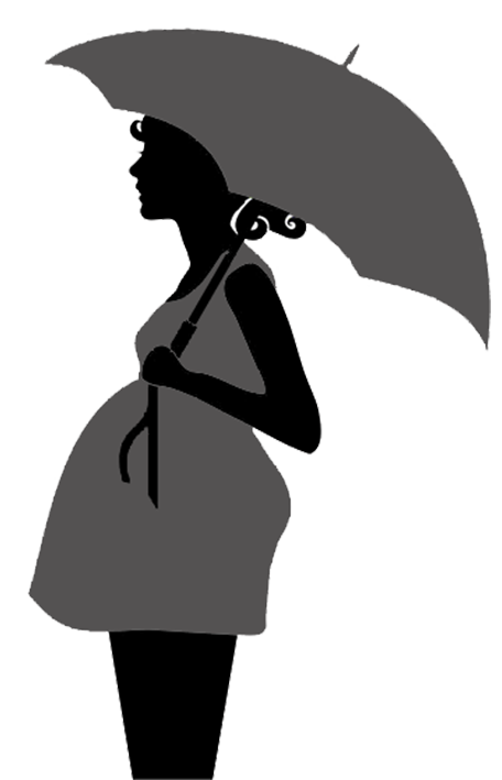 Printable kissing under umbrella. Laundry clipart silhouette