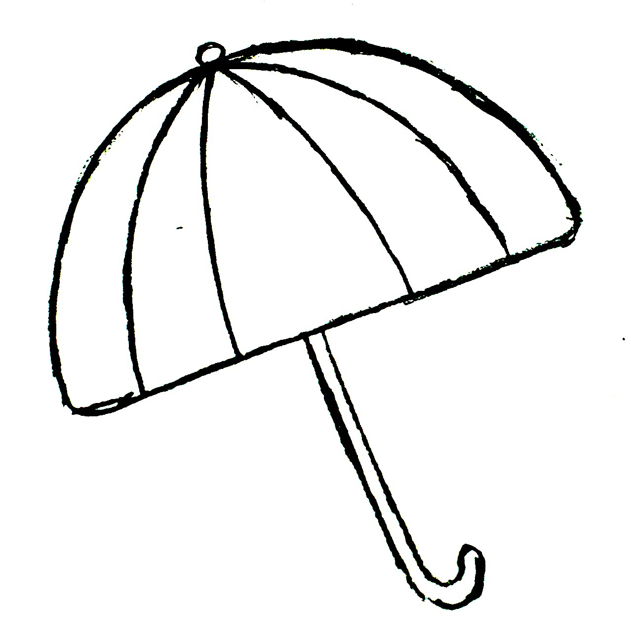 Free pictures for kids. Clipart umbrella coloring page