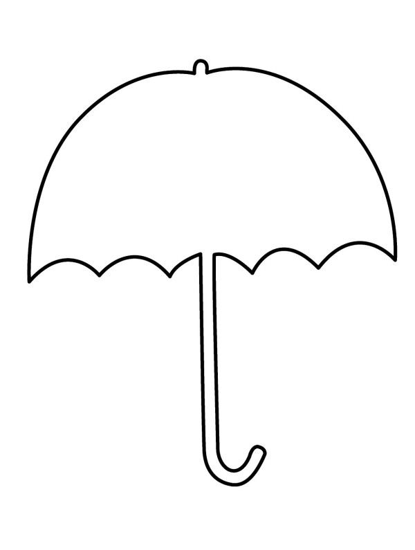 Pages alkuopetusideat . Clipart umbrella coloring page