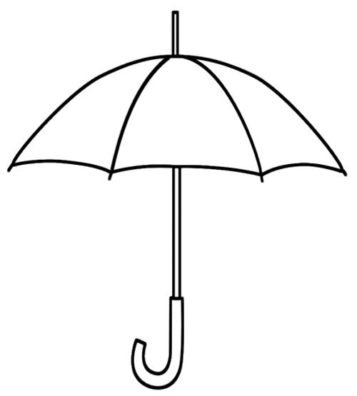 Clipart umbrella coloring page. Printable kids pages
