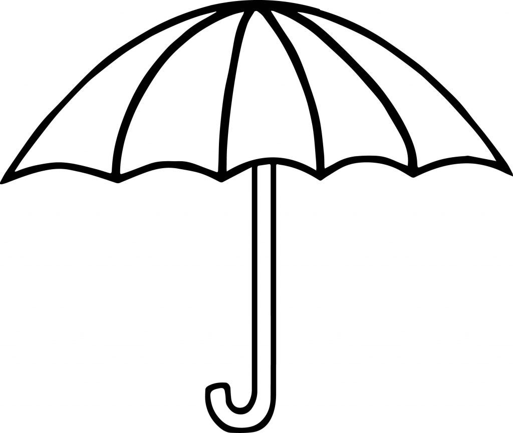 Clipart umbrella coloring page. Pages nature