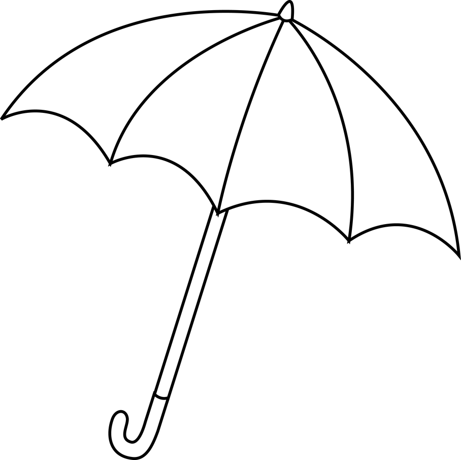 Clipart umbrella coloring page. Best beach outline pic
