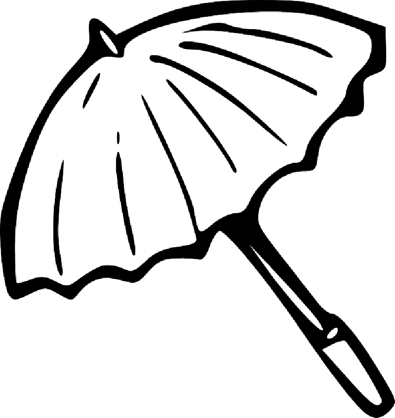 Clipart umbrella coloring page. Drawing at getdrawings com