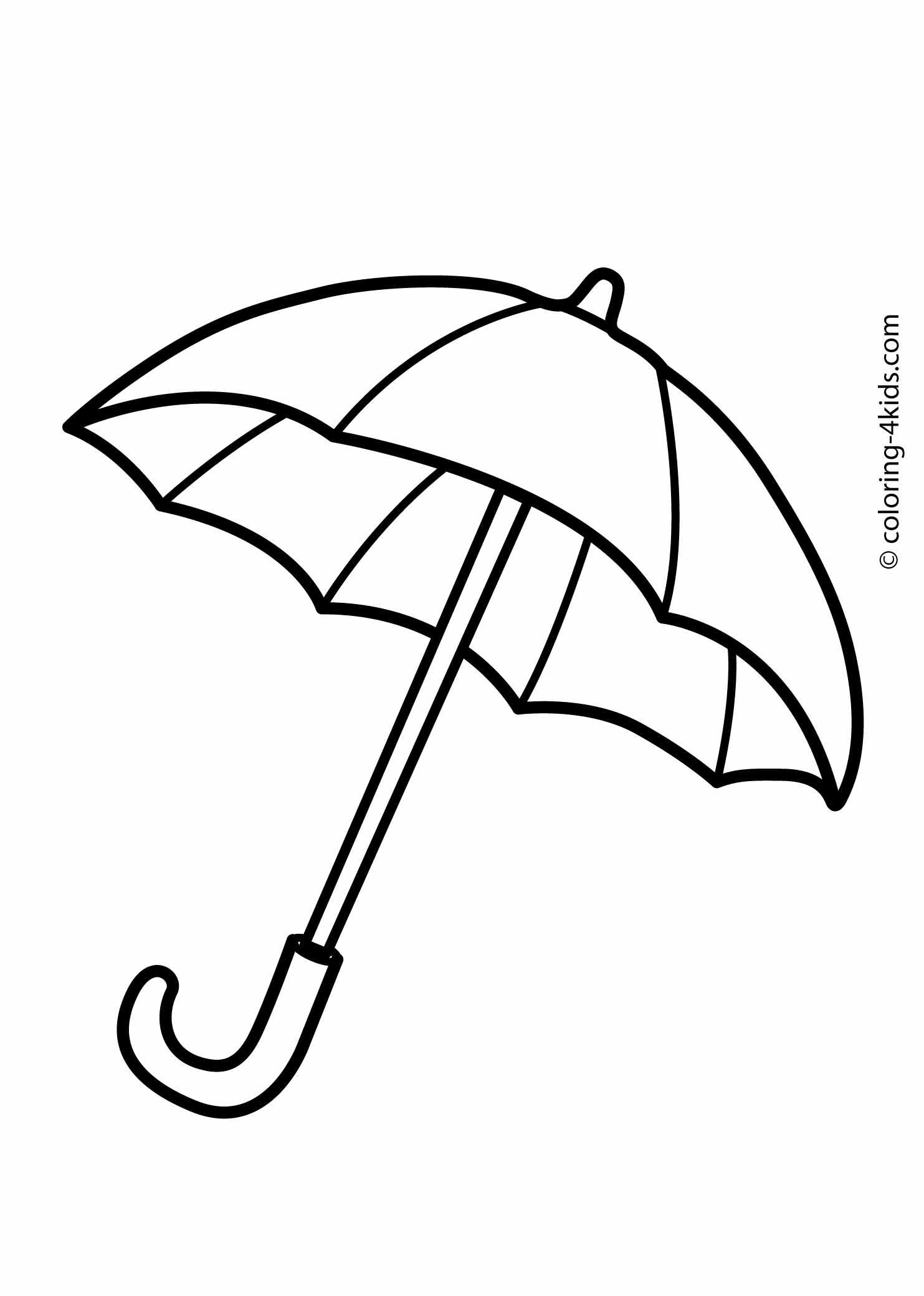 Pages for kids printable. Clipart umbrella coloring page