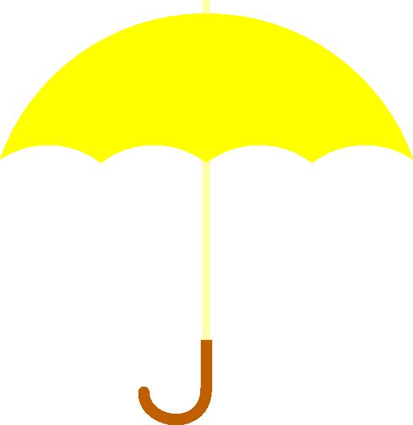 Yellow Umbrella Clip Art at Clker