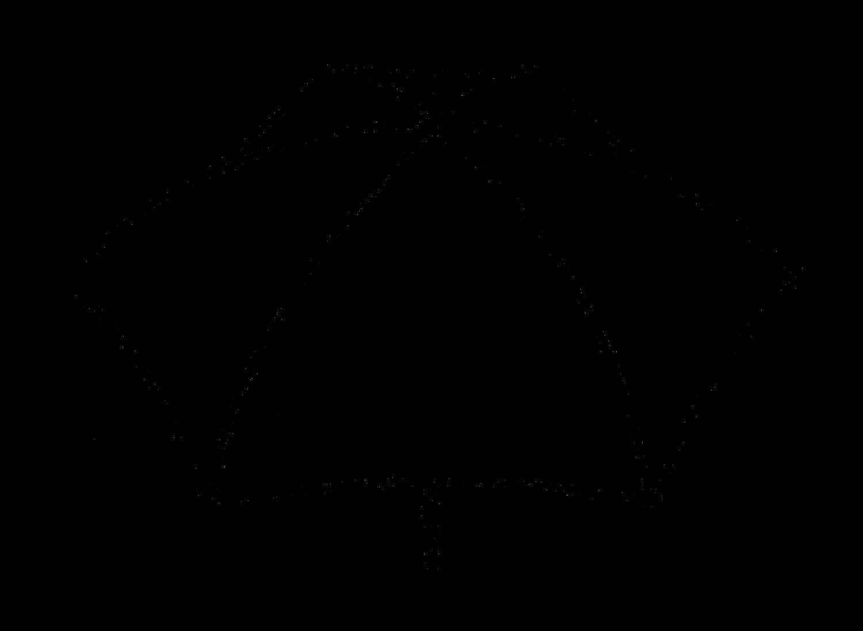 Digital stamp design stock. Clipart umbrella drawing