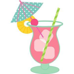 Clipart umbrella drink. Silhouette design store view