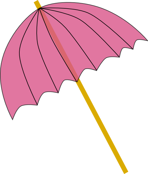 Parasol pink tranparent i. Clipart umbrella drink