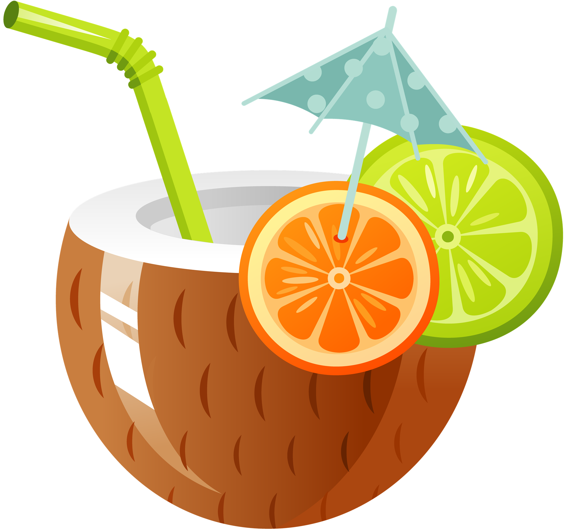 Cocktail coconut water drink. Raffle clipart auction chinese