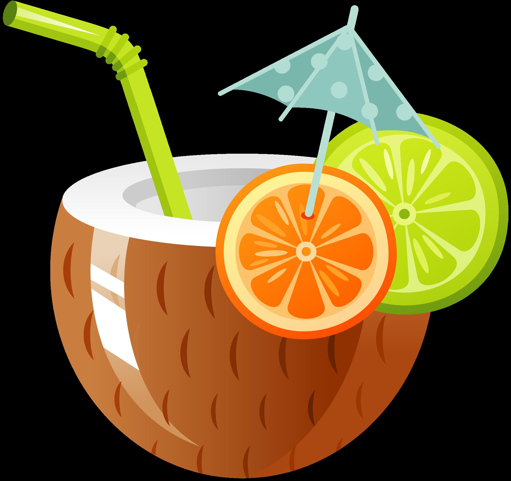 Coconut water drink clip. Hawaiian clipart cocktail hawaiian