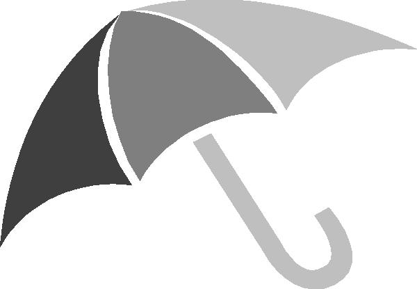 Clip art at clker. Clipart umbrella gray