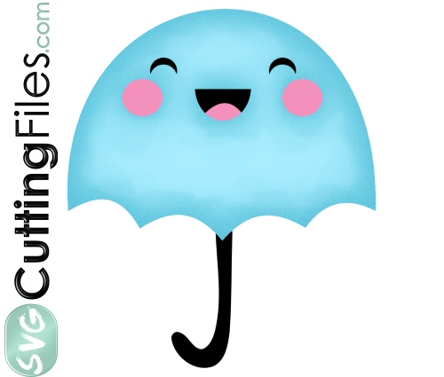 Clipart umbrella kawaii. Svg cutting file