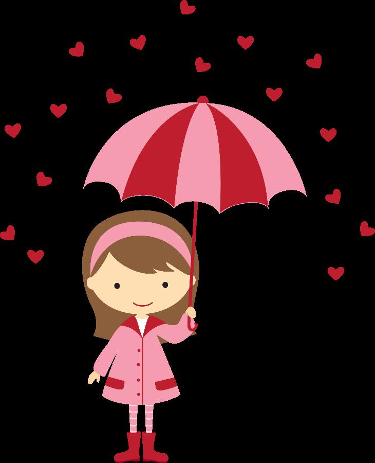 Girly clipart valentine. Meninas minus felt holidays