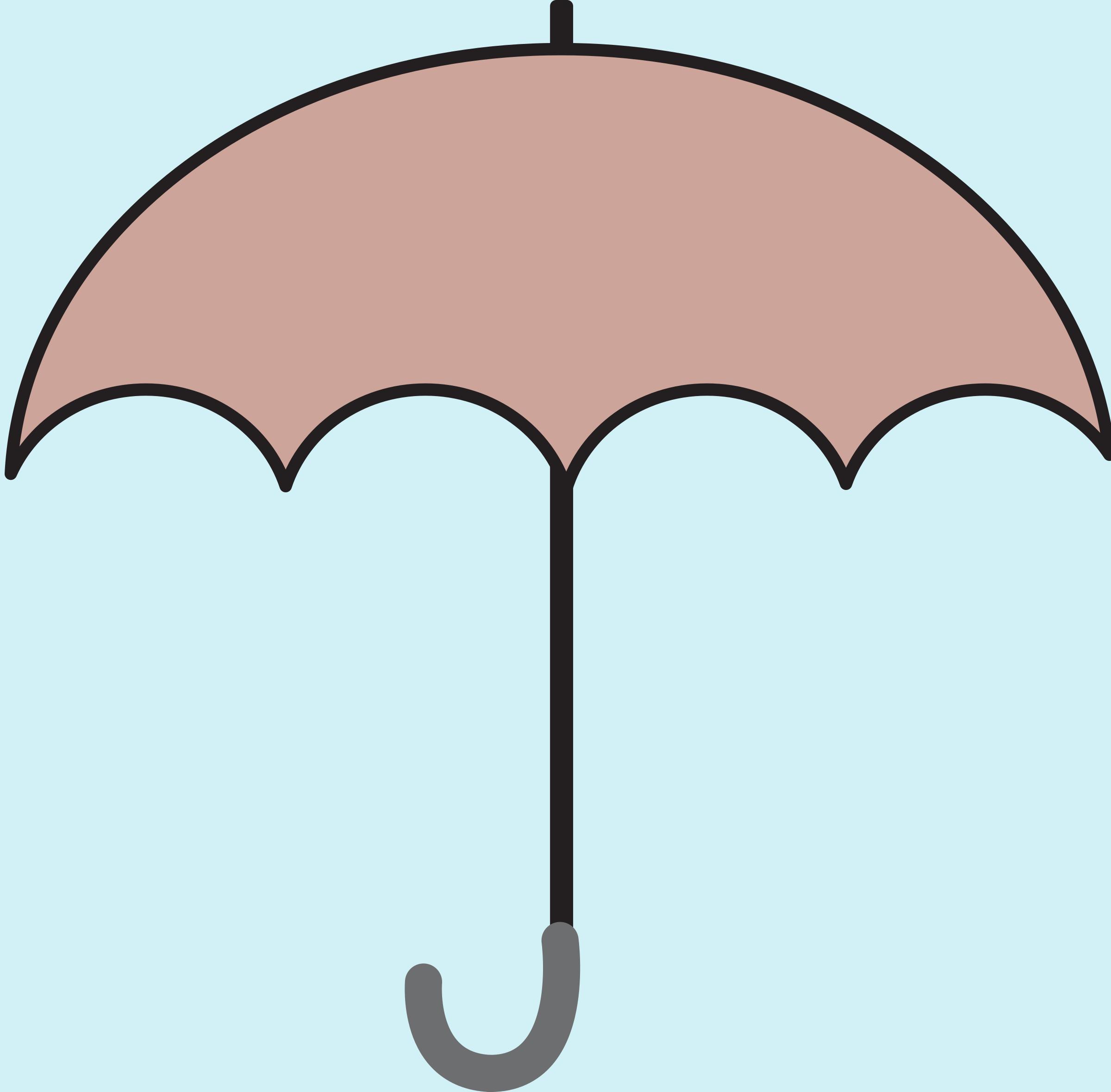 Path clipart animated. Umbrella morphing animation big