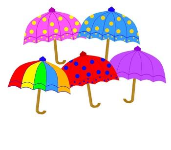 Colourful umbrellas . Clipart umbrella many umbrella