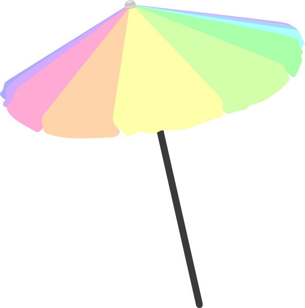Clipart umbrella pastel. Beach clip art at