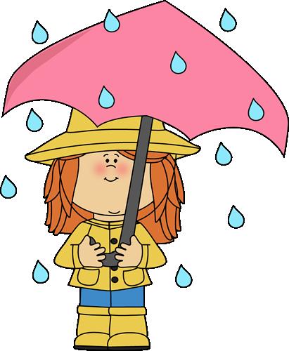 Girl under in the. Clipart umbrella preschool