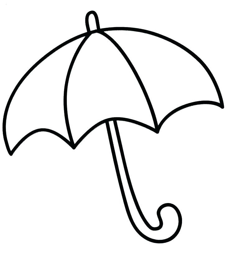 Coloring pages pictures to. Clipart umbrella preschool