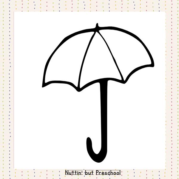 Clipart umbrella preschool. Printable pattern nuttin but