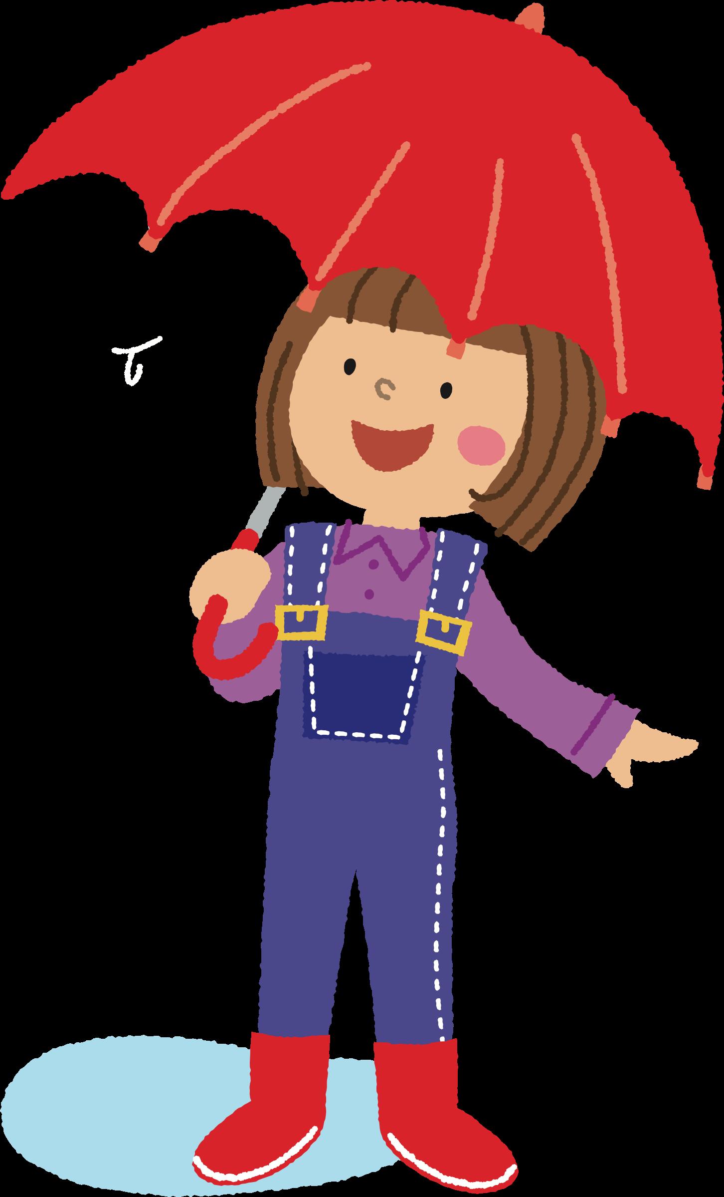Clipart umbrella public domain. Girl with big image