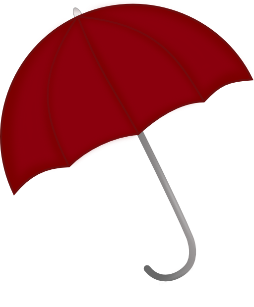 Clipart umbrella public domain. Red i royalty free