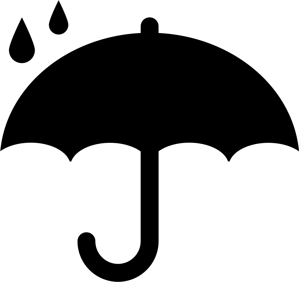 Protection symbol of opened. Raindrop clipart umbrella