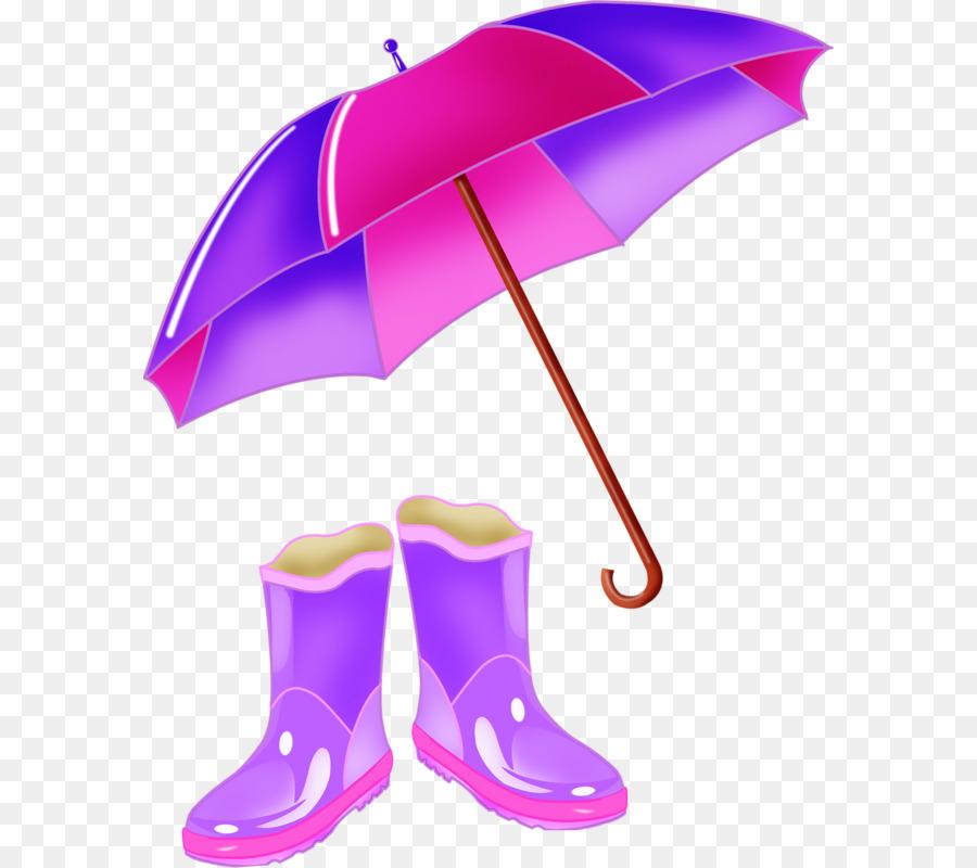 Cartoon rain clothing . Clipart umbrella rainy clothes