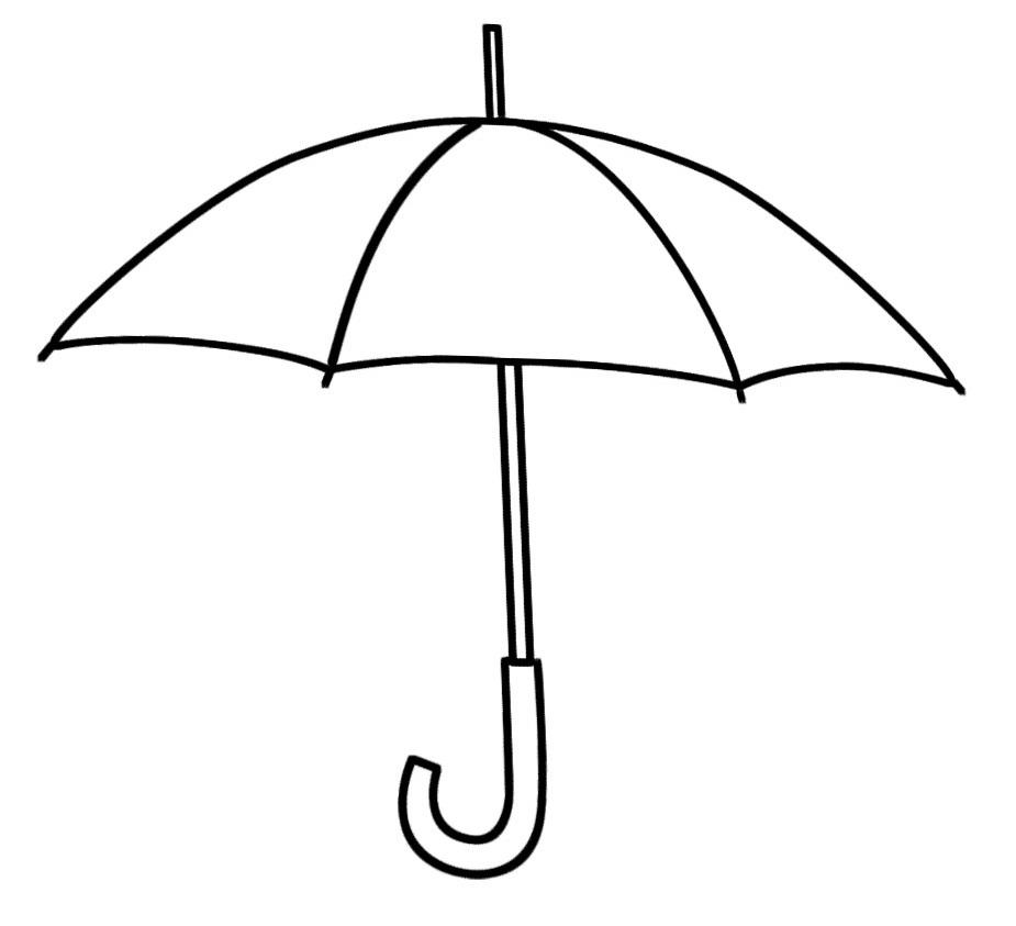 Black and white . Clipart umbrella real